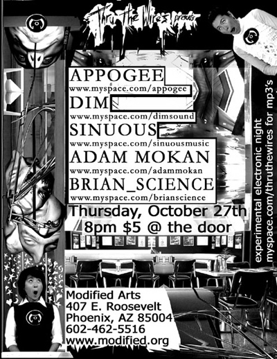 Sinuous Music Flyer
